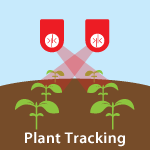 Plant tracking using ultrasonic sensors