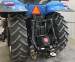 Rear View of a 300DB Hydraulic Hitch mounted on a New Holland Tractor