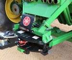 ProTrakker 400DB hydraulic hitch mounted on tow between cart